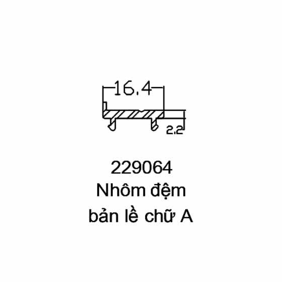 Nhôm đệm bản lề chữ A