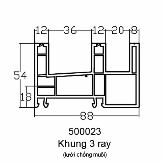 Khung 3 ray (lưới chống muỗi)