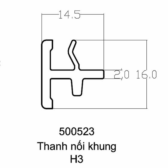 Thanh nối khung H3